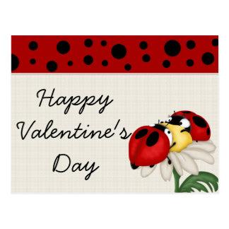 Cartão do feliz dia dos namorados dos joaninhas cartoes postais