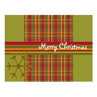 Cartão do Feliz Natal da xadrez Cartão Postal