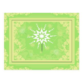 Cartão do Feliz Natal das luzes das estrelas Cartões Postais