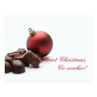 Cartão do Feliz Natal do colega Cartão Postal