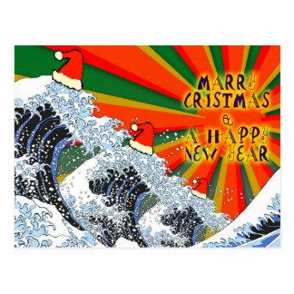 Cartão do Feliz Natal & do feliz ano novo de Cartão Postal