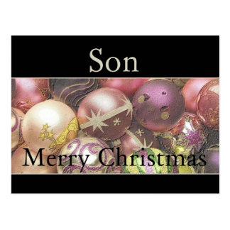 Cartão do Feliz Natal do filho Cartão Postal