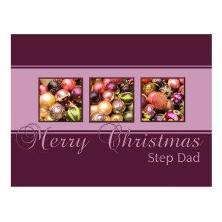 Cartão do Feliz Natal do pai da etapa Cartões Postais