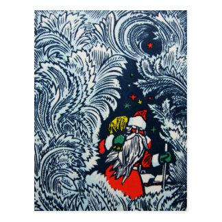 Cartão do Feliz Natal do vintage 1975 de Rússia Cartão Postal