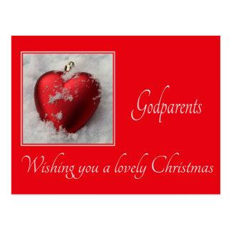cartão do Feliz Natal dos godparents Cartão Postal