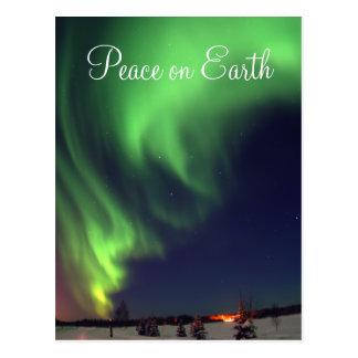 Cartão do feriado da aurora boreal