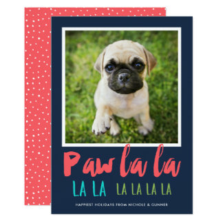 Cartão do feriado da foto do animal de estimação convite 12.7 x 17.78cm