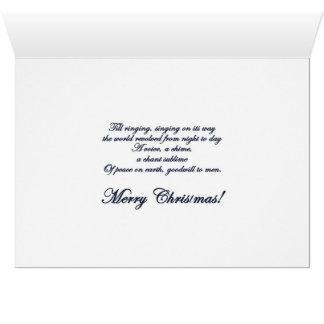 Cartão do feriado de Bels de Natal