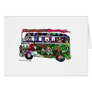 Cartão do feriado de GGBR - ônibus do hippy