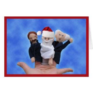 Cartão do feriado de três filósofos