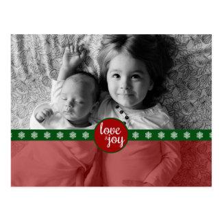 Cartão do feriado do amor e da alegria cartão postal
