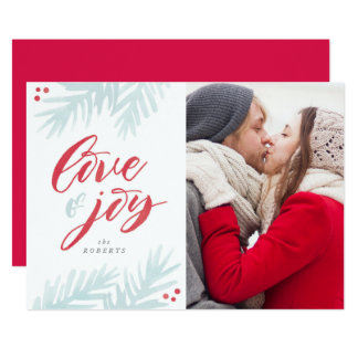 Cartão do feriado do amor e da alegria da escova