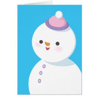 Cartão do feriado do boneco de neve