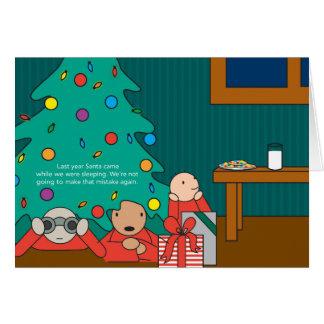 cartão do feriado do miúdo do krackle