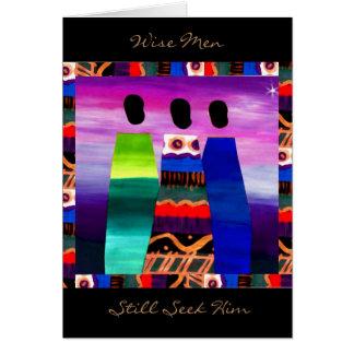 Cartão do feriado dos homens sábios