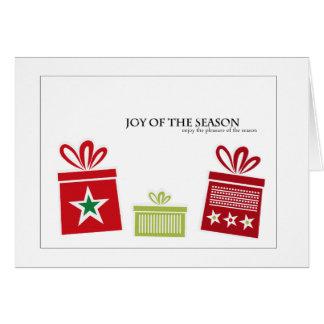 cartão do feriado dos mitenes