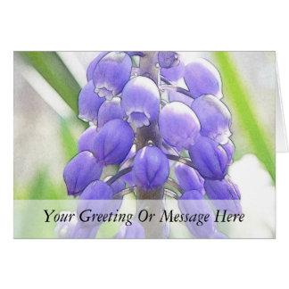 Cartão Do fim jacinto de uva acima -