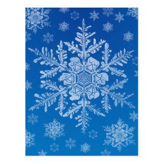 cartão do floco de neve cartão postal