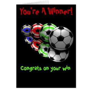 Cartão do futebol dos parabéns