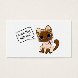 Cartão do gatinho de Playdate