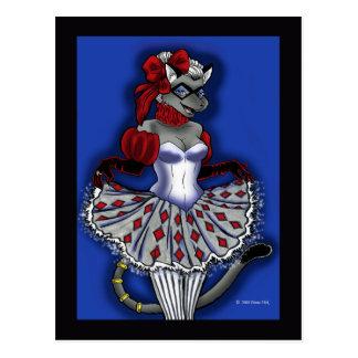 Cartão do gato das artes de Beaux Cartão Postal