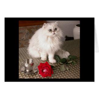 Cartão do gato II do amor - customizável