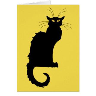 Cartão do gato preto de Nouveau da arte