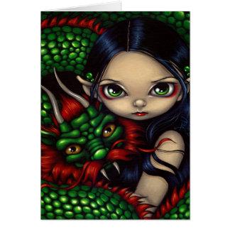 """""""Cartão do guardião esmeralda"""" Cartão Comemorativo"""