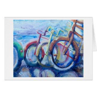 Cartão do impressão da bicicleta