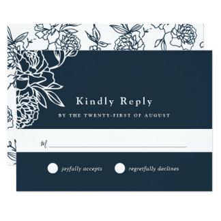 Cartão do jardim secreto RSVP