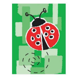 Cartão do joaninha cartão postal