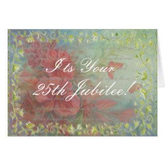 Cartão do jubileu da freira católica 25o