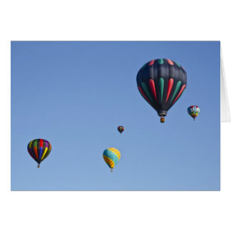 Cartão do lançamento do balão de ar quente