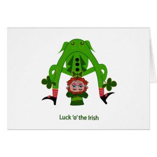 Cartão do Leprechaun - o dia de St Patrick
