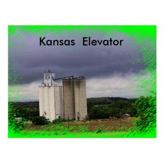 CARTÃO do lobo do preto do elevador de Kansas
