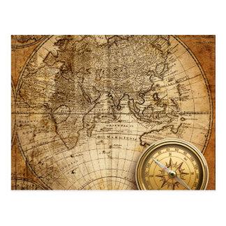 Cartão do mapa de Velho Mundo