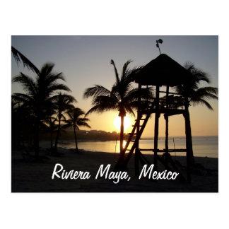 Cartão do mar das caraíbas de Cancun México do
