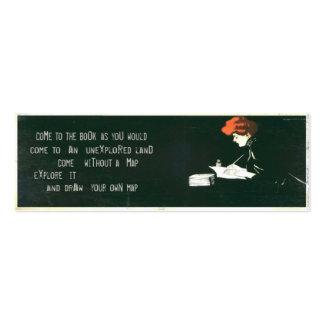 Cartão do marcador do vintage com citações cartão de visita skinny