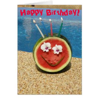 Cartão do melão do feliz aniversario