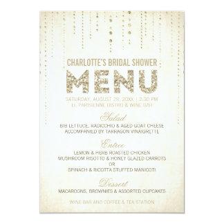 Cartão do menu do olhar do brilho convite 12.7 x 17.78cm
