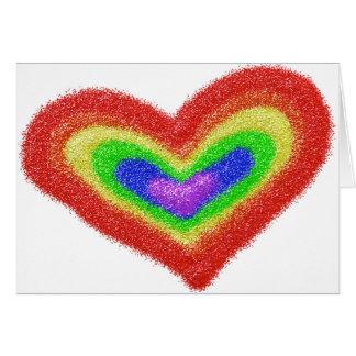 Cartão do mitzvah do bar do coração do arco-íris