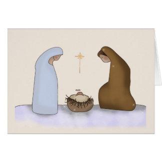 Cartão do modelo da natividade do Natal