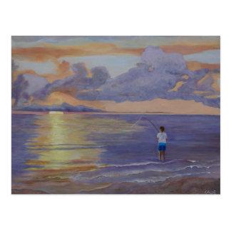 Cartão do nascer do sol da lavanda
