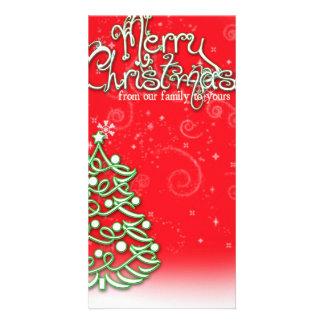 Cartão do Natal Cartão Com Foto