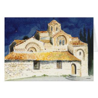 Cartão do Natal com uma imagem da igreja
