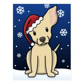 Cartão do Natal da chihuahua da jovem corça de Kaw Cartões Postais