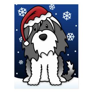 Cartão do Natal de Kawaii Terrier tibetano Cartoes Postais