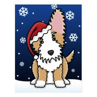 Cartão do Natal de Podengo do português do fio de  Cartoes Postais