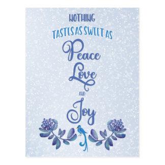 Cartão do Natal do Bluebird do amor e da alegria