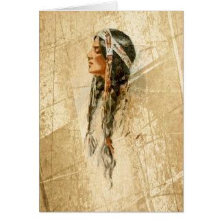 Cartão do nativo americano